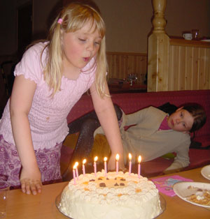 Malin 8 år