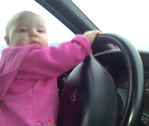 Mia kjører...